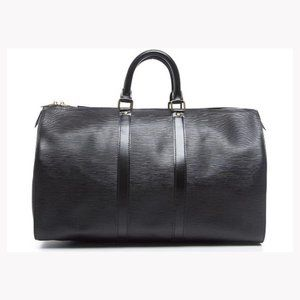 Louis Vuitton 872131 Black Epi Noir Keepal 45